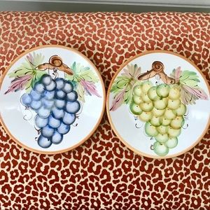 Set of 4 Vintage A. Santos Grape Plates EUC
